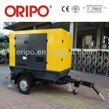 Low Noise Diesel Generator Set Trailer Type 150-500kw