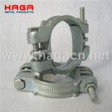 Malleable Carbon Steel Double Bolt Hose Clamp with Saddles