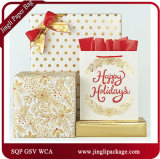 Christmas Paper Carrier Gift Bags Shopping Bags with Hot Stamping