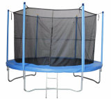 Blue Jumpking Large Spring Round Trampoline / 14 Foot Trampoline