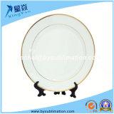 """8""""/10"""" Golden Rim Colour Ceramic Plate for Sublimation"""