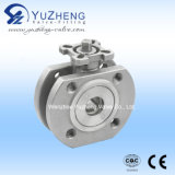 Stainless Steel Wafer Type Ball Valve with Pad