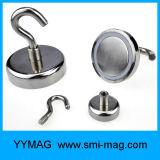 Neodymium Pot Magnet Hooks /Magnetic Steel Hooks