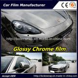 Black Glossy Chrome Film Car Vinyl Wrap Vinyl Film for Car Wrapping Car Wrap Vinyl
