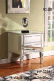 2 Drawers Antique Silver Night Stand Cabinet