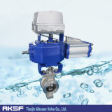 Wafer Type V-Port Ball Valve with Electric Actuator