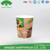 Happypack New Double Wall Paper Cup with Lid (4oz 8oz 12oz 16oz 20oz)