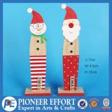 Wooden Snowman and Santa Design with Xmas Sign for Home Ornament