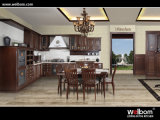 2015 New Welbom Amercia Walnut Brown Kitchen Cabinet