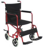 Folding Aluminum Wheelchair with Red Powder Printing Frame