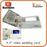 "Custom 4.3"" LCD Video Greeting Card Invitation Music Gift Card"