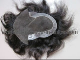 Swiss Lace Remy Human Hair Toupee