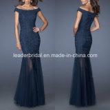 Navy Blue Bridal Dress Sheath Mother Evening Dress B-1