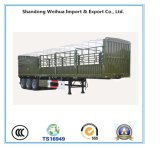 35t Fence Cargo Truck Stake Truck Trailer with 3 Axles for Cargo Transportation