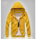 Cheaper Price Men Yellow Full Zipper Hoody Jacket