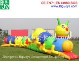 Lovely Worm Inflatable Obstacle for Kids, European Hot Sale Inflatable Obstacle