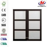 48 in. X 81 in. 3-Lite Bronze Aluminum Sliding Door