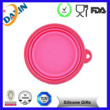 Cute Pet 6 Colors Feeding Silicone Collapsible Bowl