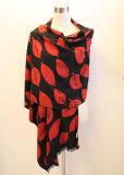 Lady Fashion Viscose Woven Jacquard Fringed Shawl (YKY4408)