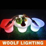 LED Planters and LED Furniture Round Flower Plastic Pots