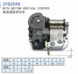 18-Note Music Movement with Bottton Vertical Stopper (3YB2046) B