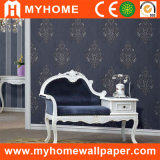 Dark Blue Damask Classical Wall Paper