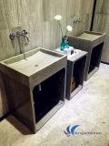 White Wood Natural Granite Vanity Sink/Basin for Bathroom