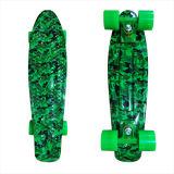22inch PP 22 Inch Mini Skateboard Cruiser Skateboards Complete Skateboard Banana Skateboard Green Camo