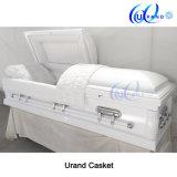 High Gloss White Velvet Best Seller Coffin and Casket