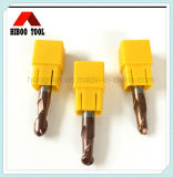 Low Price HRC45 Copper Coating Carbide Ball Nose End Mill