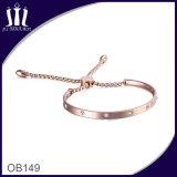 Adjustable Round Package Set Zircon Chain Bracelet with Round Box
