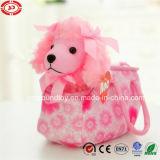 Pink Poodle Noble Dog Toy in Bag Plush Set