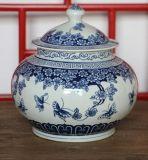Blue and White Porcerlain Storage Jar (LW751)