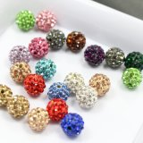 4mm - 18mm Multic Color with White Clay Shamballa Rhinestone Pave Crystal Beads for Jewelry Making