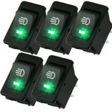 12V 35A Toggle Switch 4pin Green LED Dashboard Toggle Switch