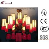 Classical Hotel Decirative Candelabra Chandelier with Fabric Shade