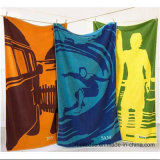 Cotton Printed Velour Bath Towel Beach Towel with Colourful Designs
