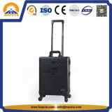 Trolley Case Multi-Functional Black Aluminium Makeup Box (HB-2017)