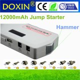 Mini Auto 12V Car Jump Starter Lipo Power Bank with Safety Hammer and LED Light Jump Starter
