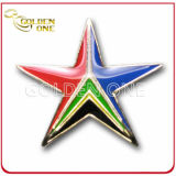 Personalized Epoxy Coated Star Shape Pin Badge