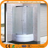 Patterned Glass Chromed Frame Shower Door (ADL-8035D)