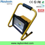 CE Waterproof 5hrs 20W LED Portable Work Light Rechargeable Floodlight
