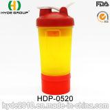 450ml Blender Shaker Bottle with Stainless Steel Ball, Shaker Bottle (HDP-0520)