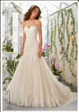 2016 Lace Beaded Tulle Bridal Wedding Dress Wd5402
