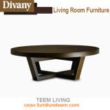 Modern Living Room Furniture Wood Round Coffee Table