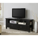 "60"" Class Black Wood TV Stand with Storage Drawers (TVS13)"