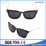 New Women Style Anti-Glare Anti-Reflective Sunglasses with Metal Temples