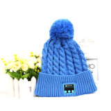 Winter Knit Smart Electronics Bluetooth Music Headphone Beanie Wearable Smart Hat Cap with Built-in Microphone Speaker for Women / Lady