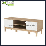 Modern Solid Wood+MDF TV Stand with 2 Doors