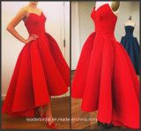 Red Satin Formal Gowns Strapless Bridesmaid Evening Dresses 2016 Y2030